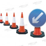 Road Cones, road cone complete with cone mounted sign