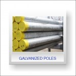 Galvanised CE Marked poles
