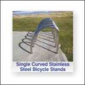 Single Curved Stainless Steel Bicycle Stand