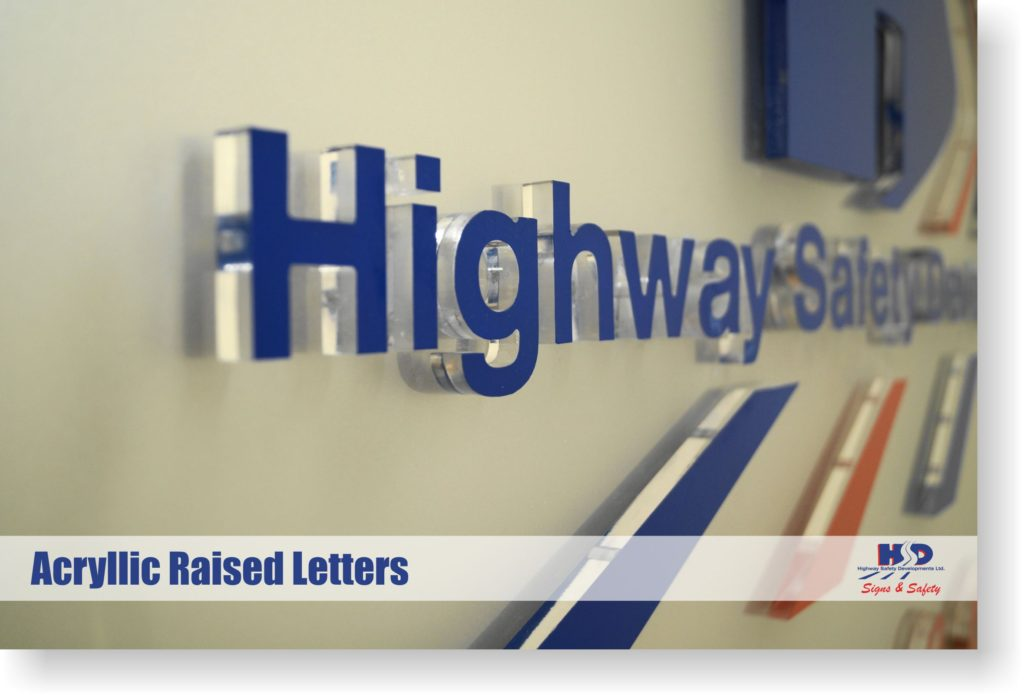 Raised Letter Signs 2D Letters